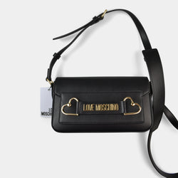 LOVE MOSCHINO SHOULDER BAG METAL HEARTS