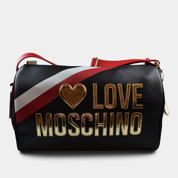 LOVE MOSCHINO DUFFLE BAG GOLD LOGO