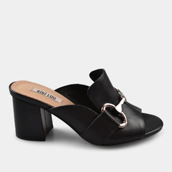 BIBI LOU HEEL SANDAL IN BLACK