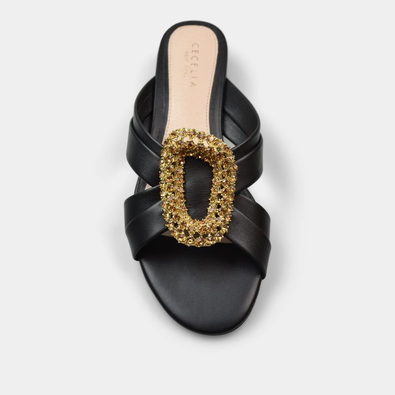 CECELIA PARADISE FLAT IN BLACK