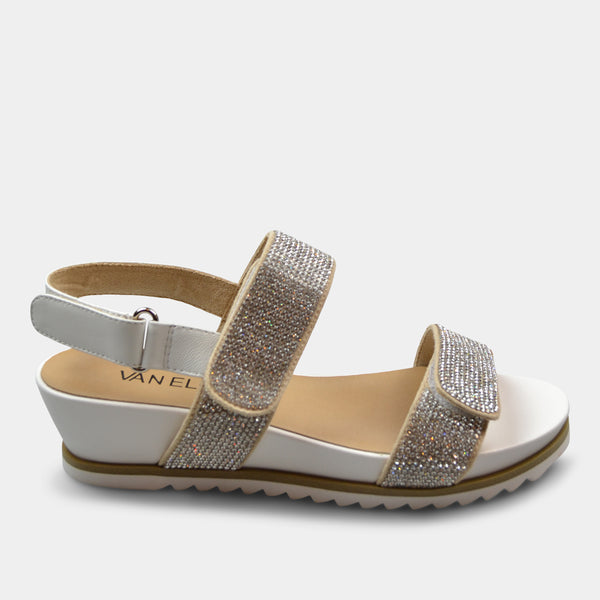 VANELi HUBE SANDAL IN WHITE