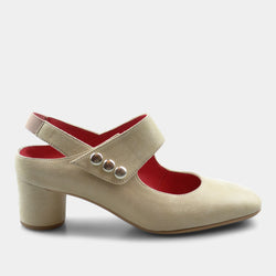 PAS DE ROUGE CHANTA SUEDE IN BIEGE