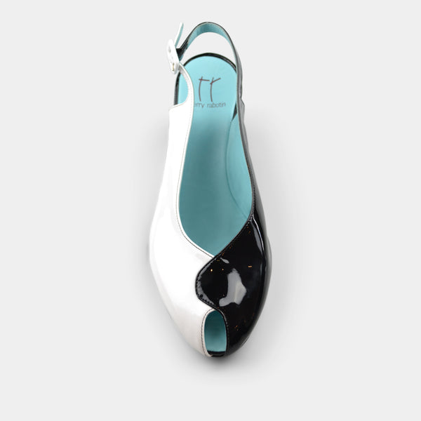 THIERRY RABOTIN CADENT SLINGBACK WEDGE IN PATENT LEATHER