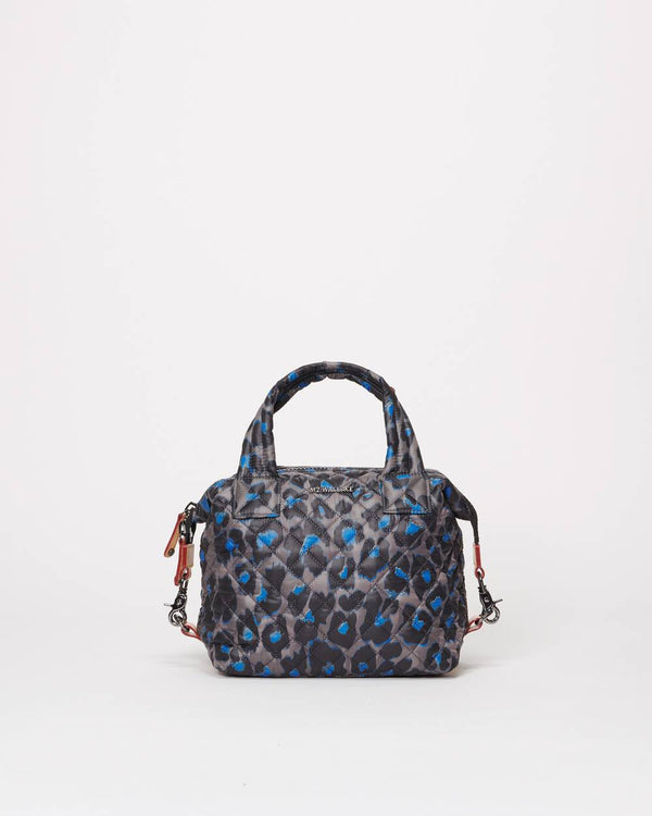 MZ WALLACE SMALL  BLUE LEOPARD
