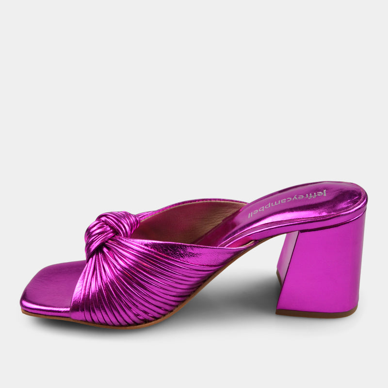 JEFFREY CAMPBELL MELONGER IN FUCHSIA METALLIC