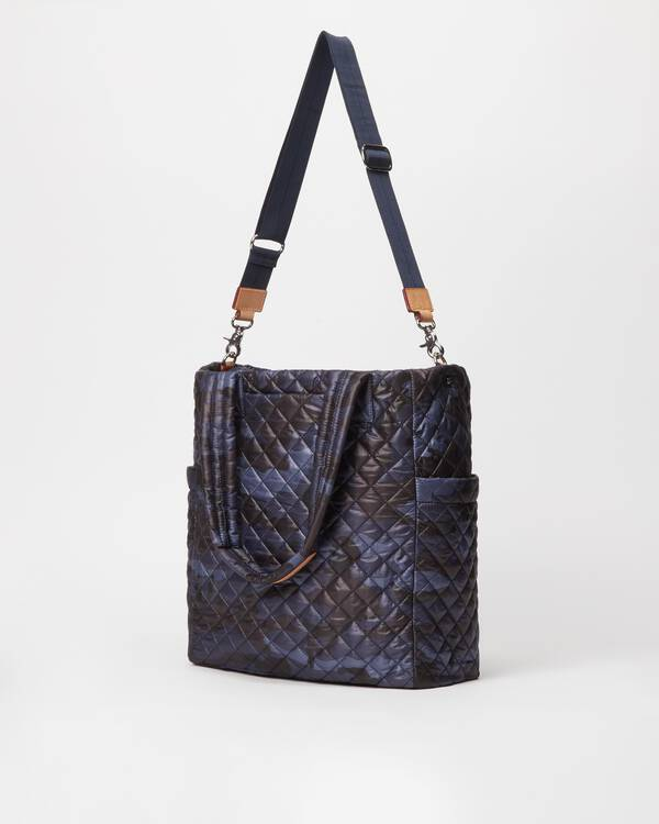 MZ WALLACE MAX TOTE IN BLUE CAMO