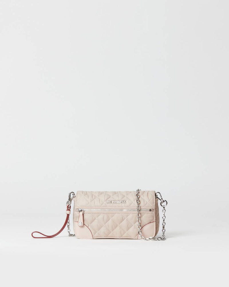 MZ WALLACE CROSBY CONVERTIBLE WRISTLET IN MUSHROOM