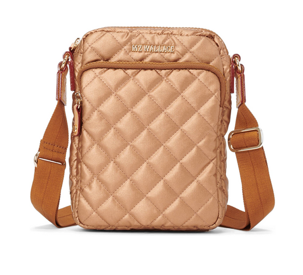 MZ WALLACE  METRO CROSSBODY BAG IN COPPER