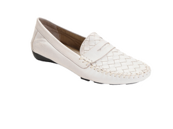 ROBERT ZUR PETRA LOAFER IN WHITE TRUE GLOVE