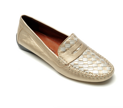 ROBERT ZUR PETRA LOAFER IN TRUE GOLD/TRUE SILVER