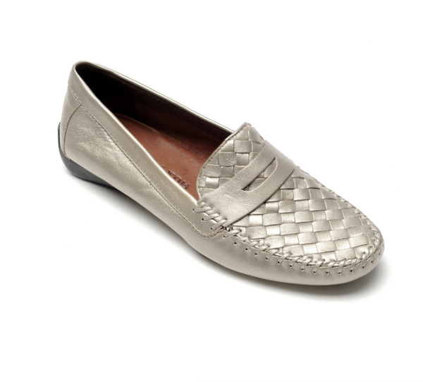 ROBERT ZUR PETRA LOAFER IN TRUE SILVER