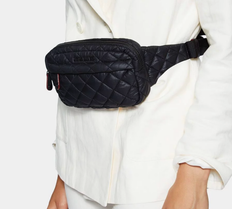 MZ WALLACE METRO BELT BAG IN BLACK