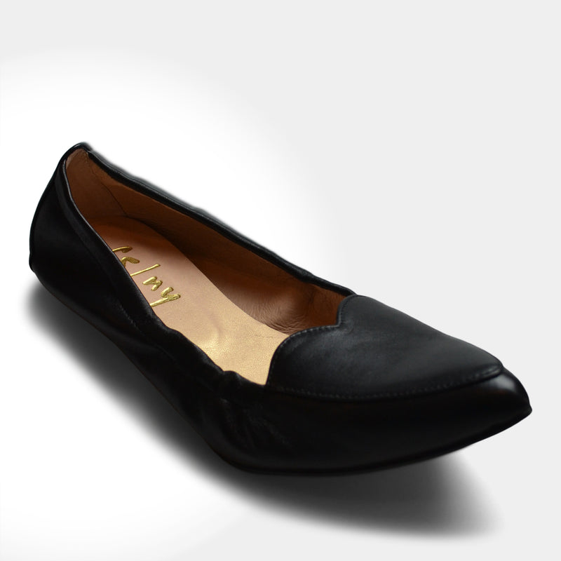 FRENCH SOLE HEART CLAUDIA FLAT IN BLACK