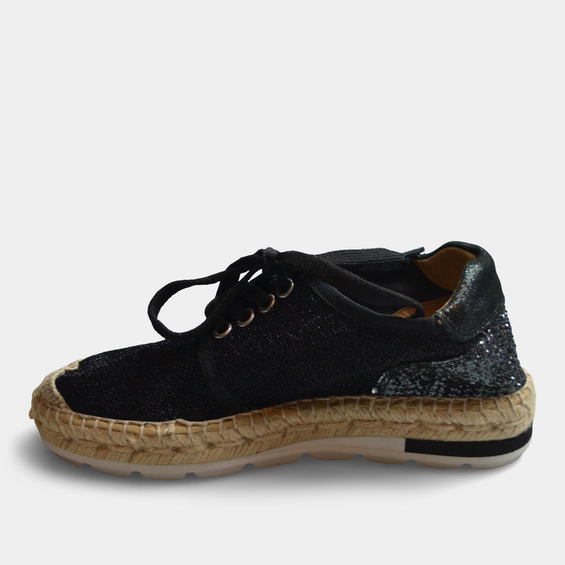 KANNA SNEAKER WEDGE IN BLACK
