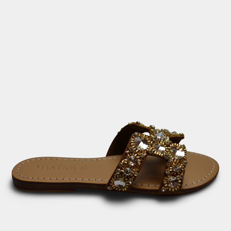 MYSTIQUE AJAX SANDAL IN GOLD