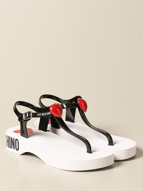LOVE MOSCHINO THONG SANDAL WITH HEART