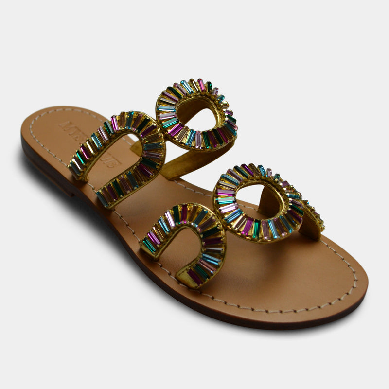 MYSTIQUE JEWELED SANDALS