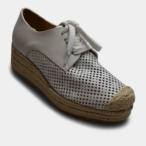 BOTTERO SNEAKER WEDGE IN WHITE