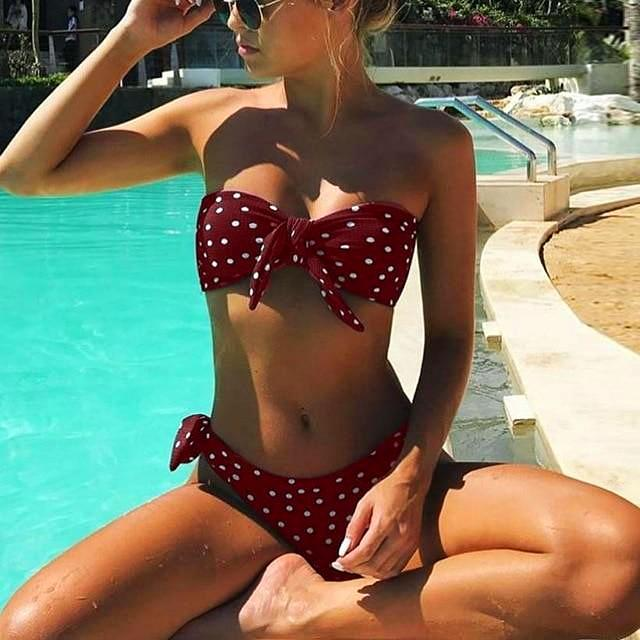 Dot Printed Swimsuit