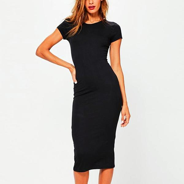 High Neck Slim Dress