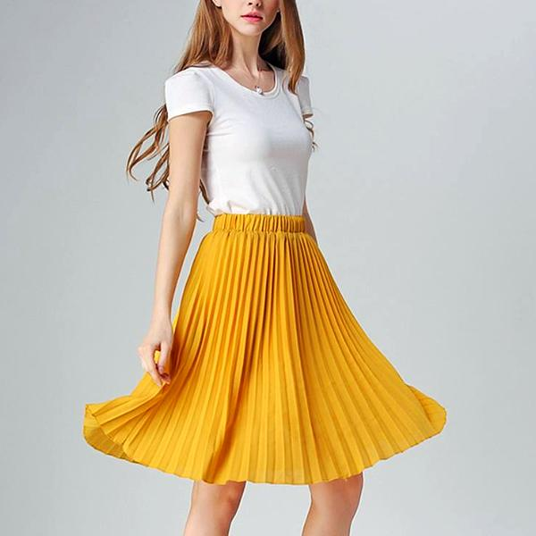 ae25453082 Chiffon Pleated Skirt – Zhoras.com
