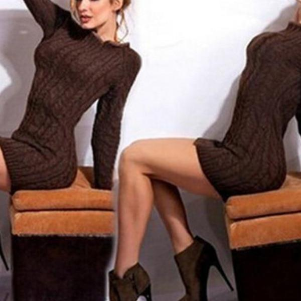 Wrap Knitted Dress