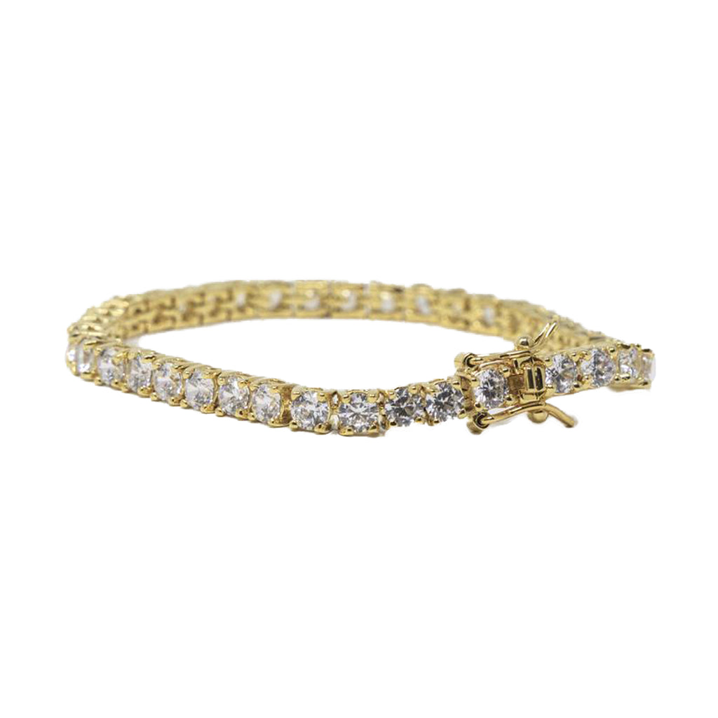 Princess Cut Tennis Bracelet - Clear