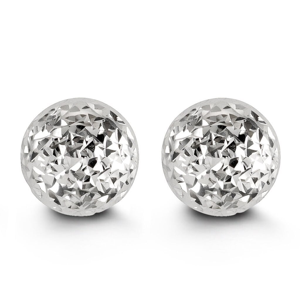 10mm 10K Yellow Gold Diamond-cut Ball Stud Earrings at Arman's Jewellers