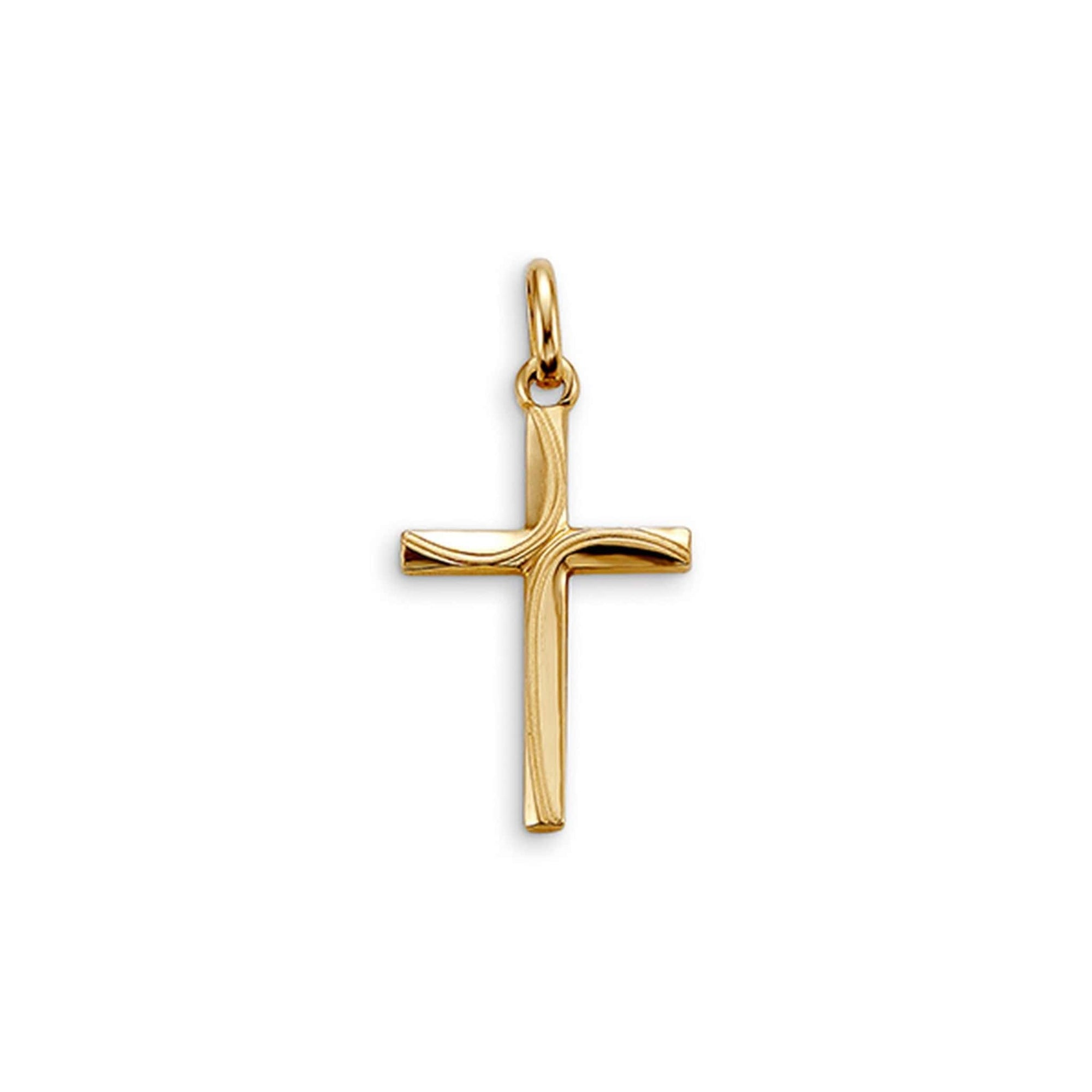 10K Yellow Gold Detailed Cross Pendant at Arman's Jewellers