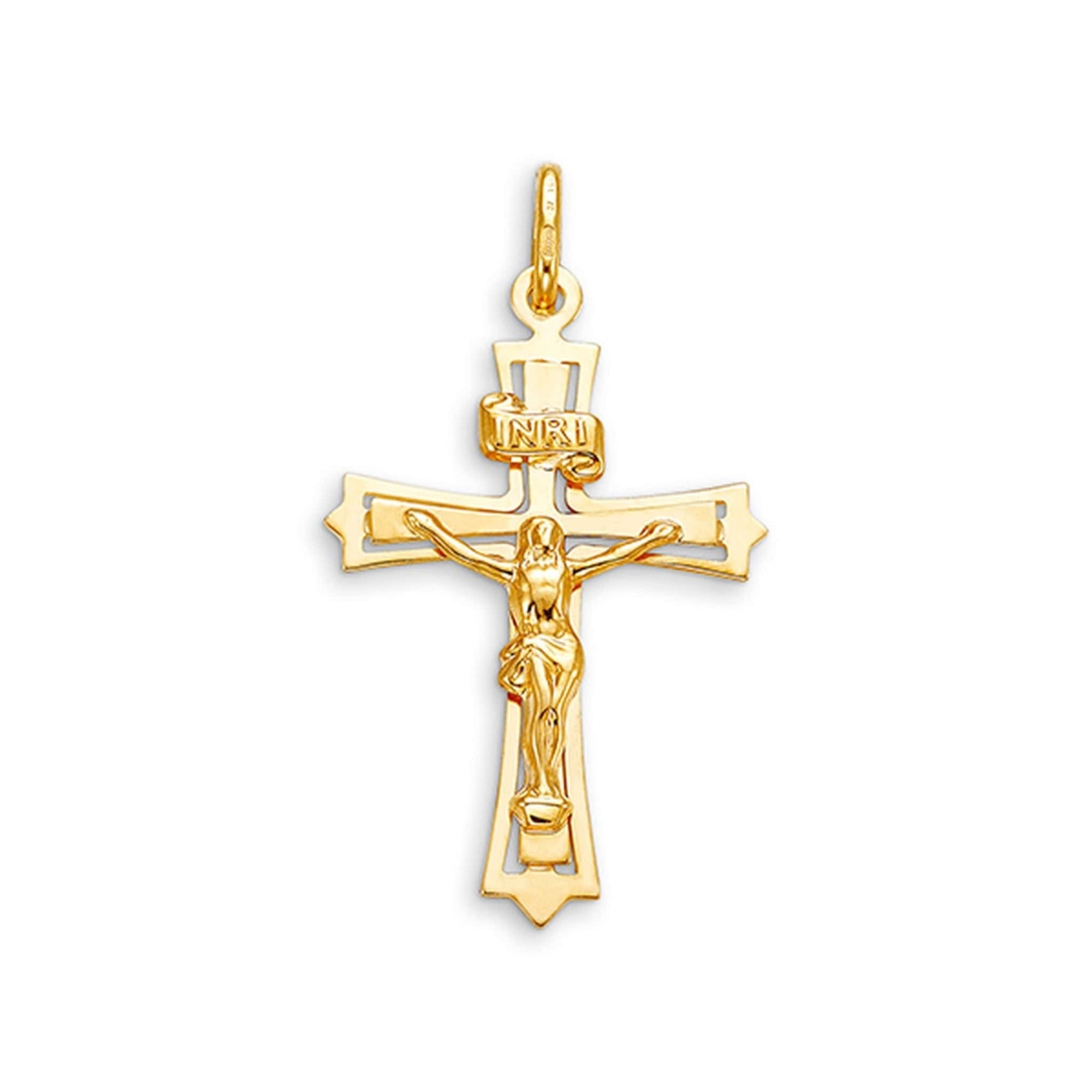 10K Yellow Gold Crucifix Cross Pendant at Arman's Jewellers