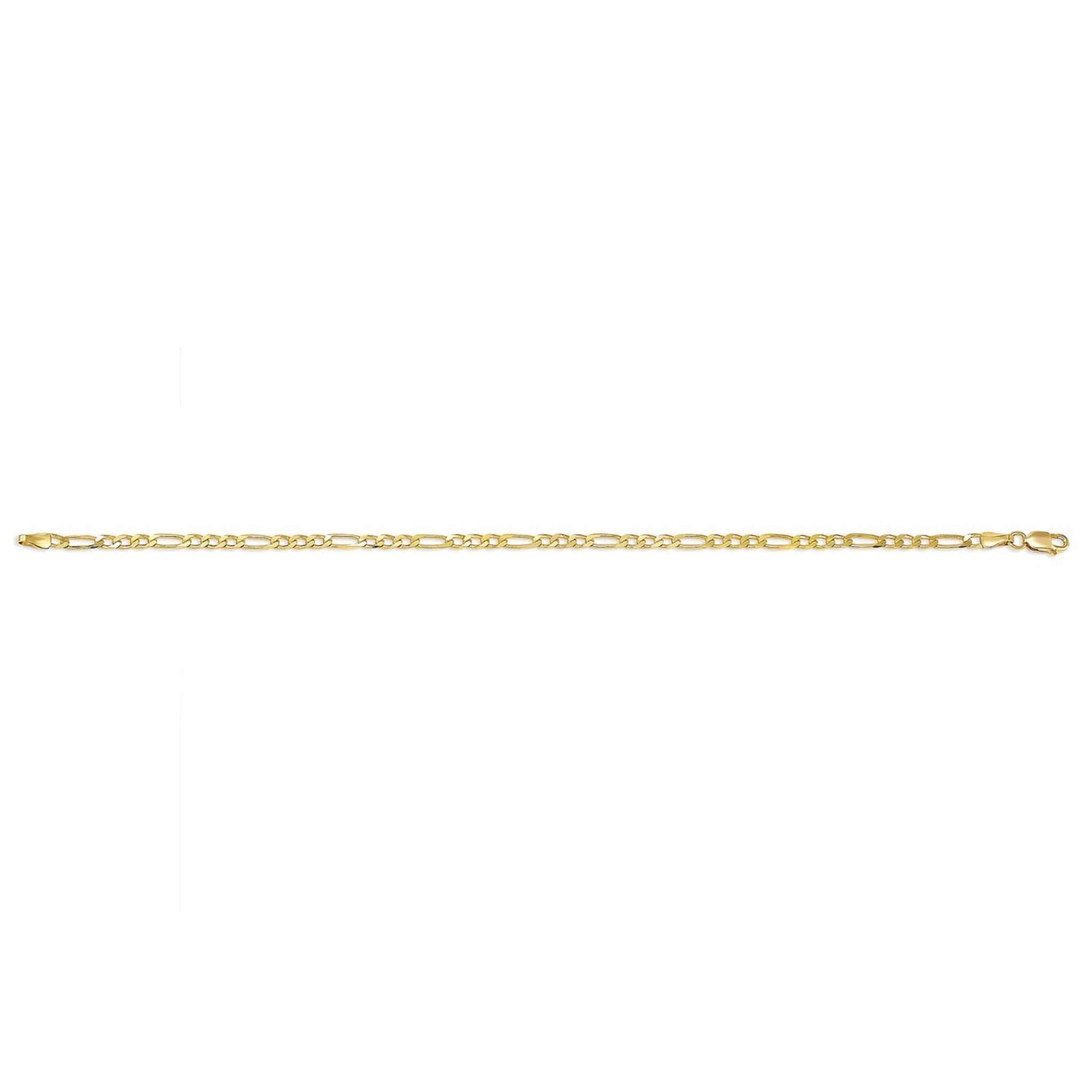 10K Yellow Gold Figaro Chain Anklet at Arman's Jewellers
