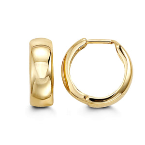 10K Yellow Gold Huggie Hoop Earrings at Arman's Jewellers