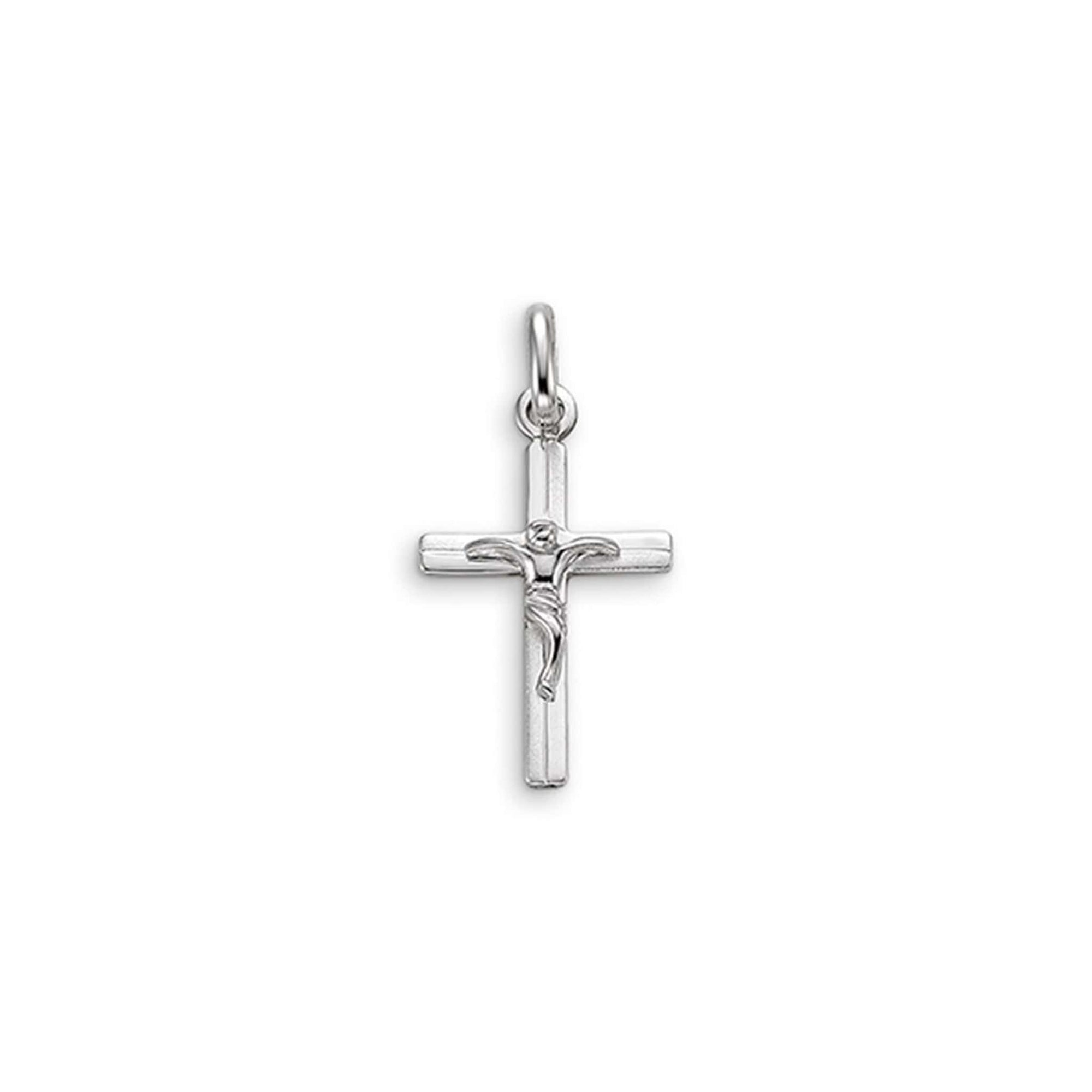 10K Two-tone Gold Crucifix Cross Pendant at Arman's Jewellers
