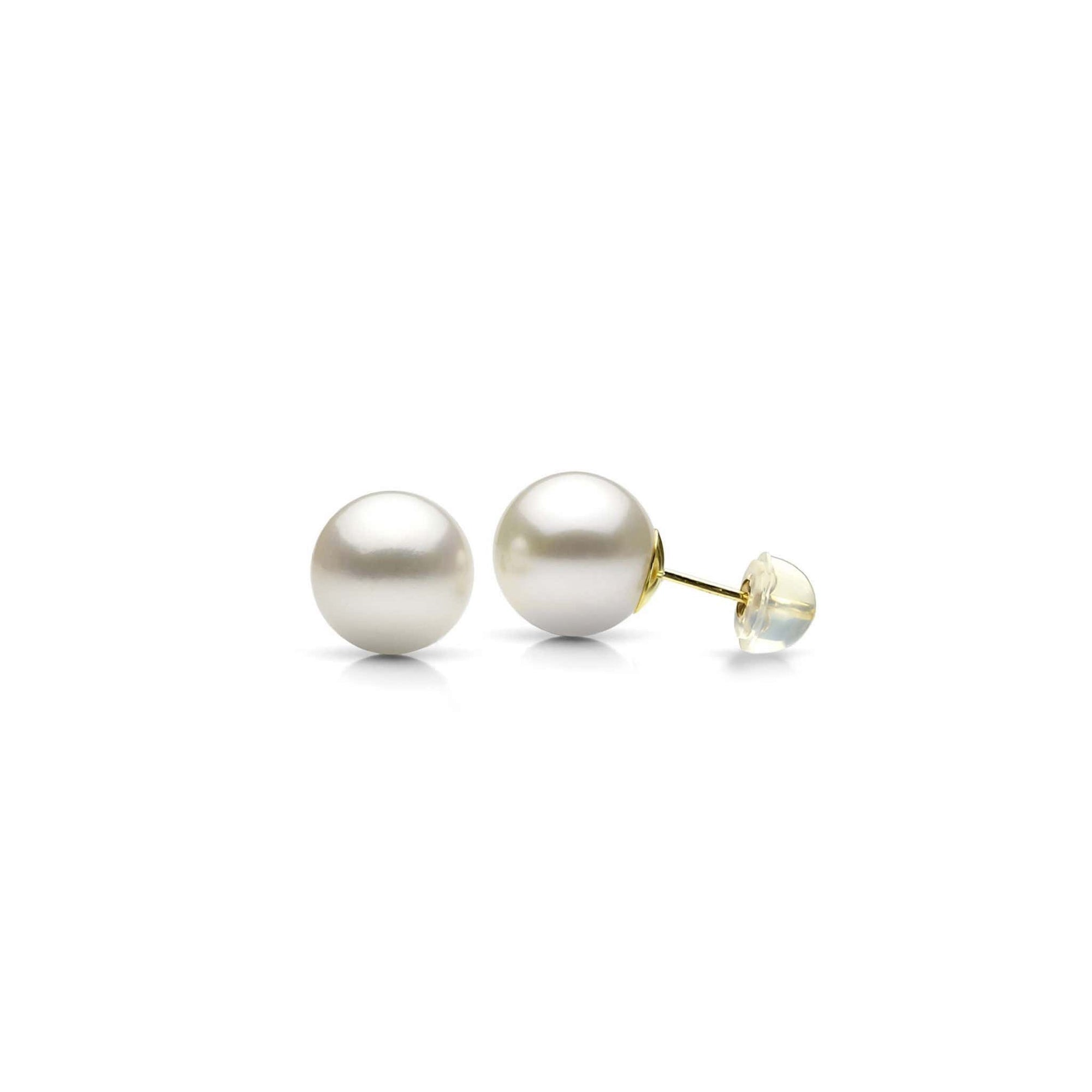 14K Yellow Gold Freshwater Cultured Pearl Stud Earrings at Arman's Jewellers