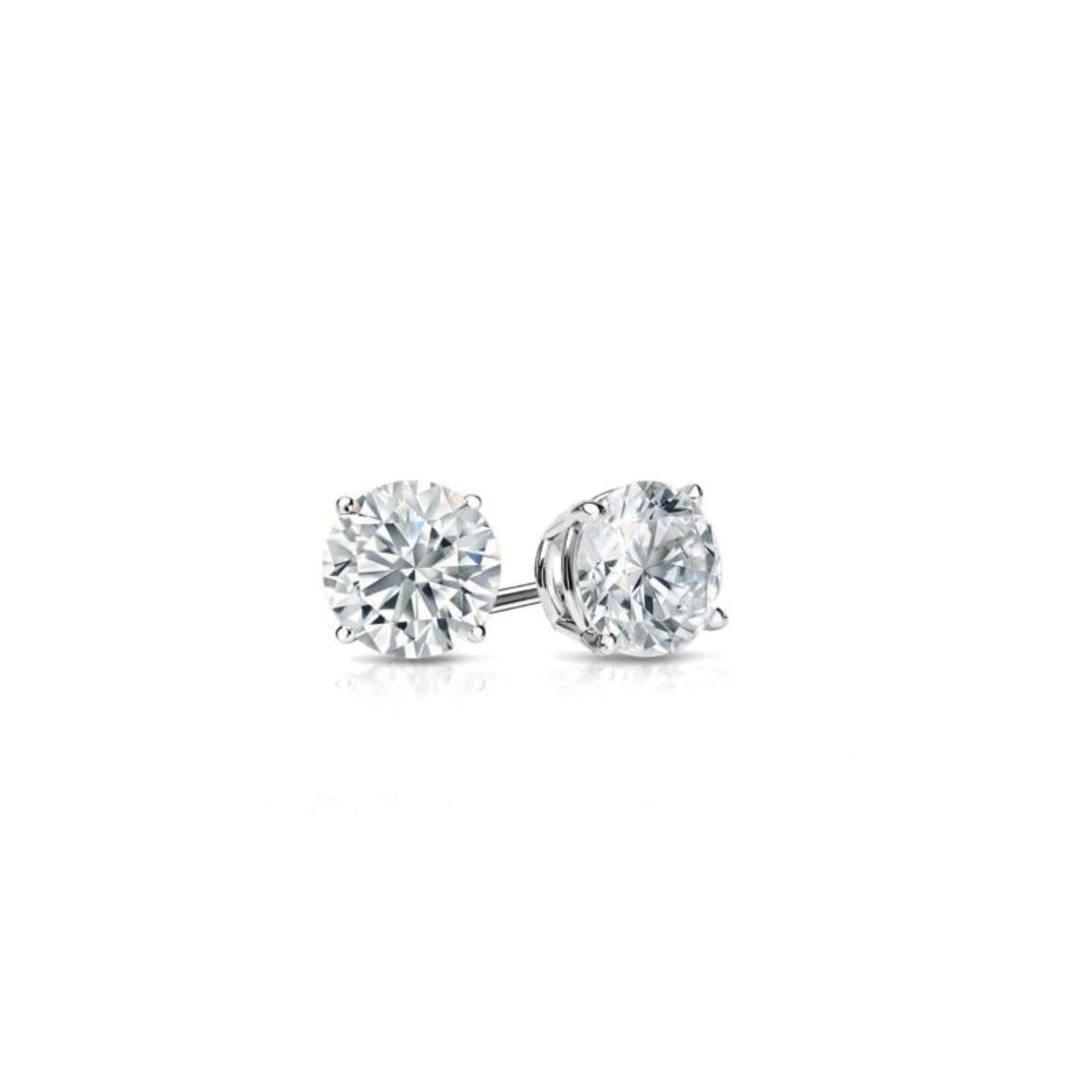 14K White Gold Diamond Stud Earrings (0.52 CT. TW.) at Arman's Jewellers