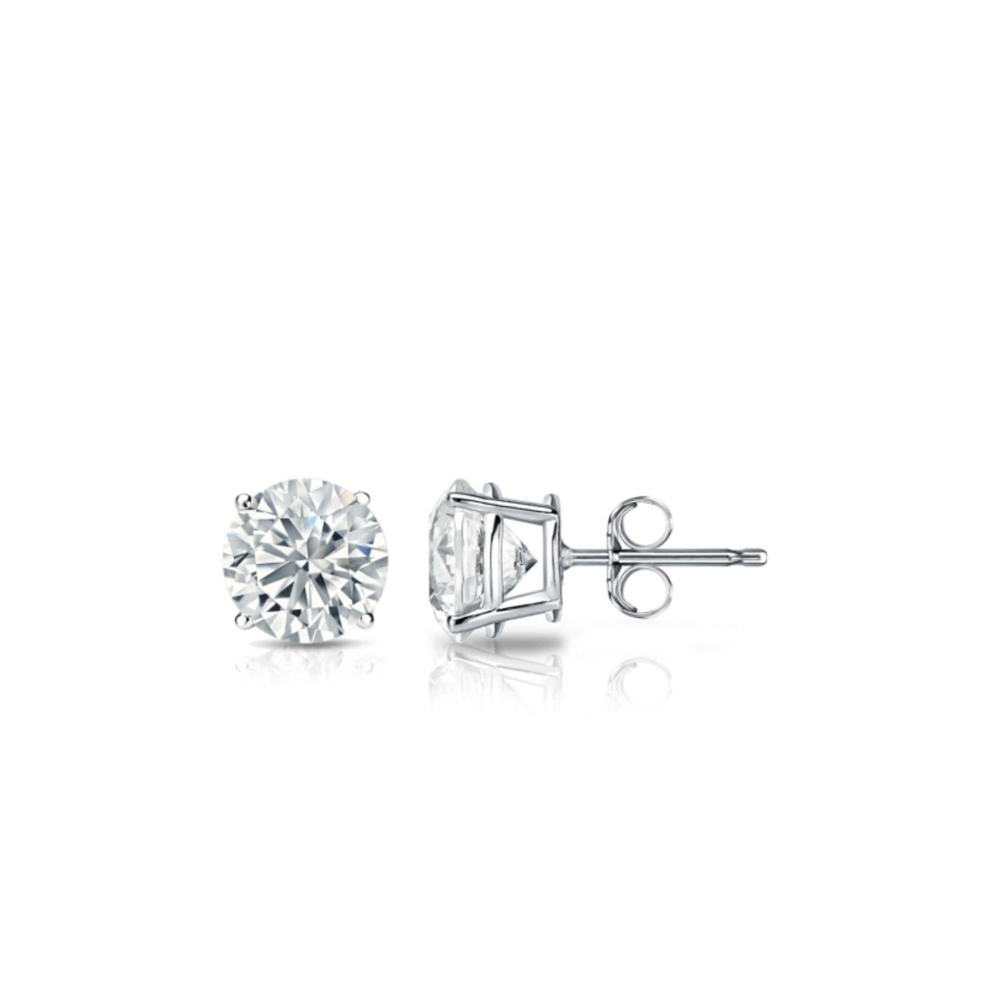 14K White Gold Diamond Stud Earrings (0.56 CT. TW.) at Arman's Jewellers