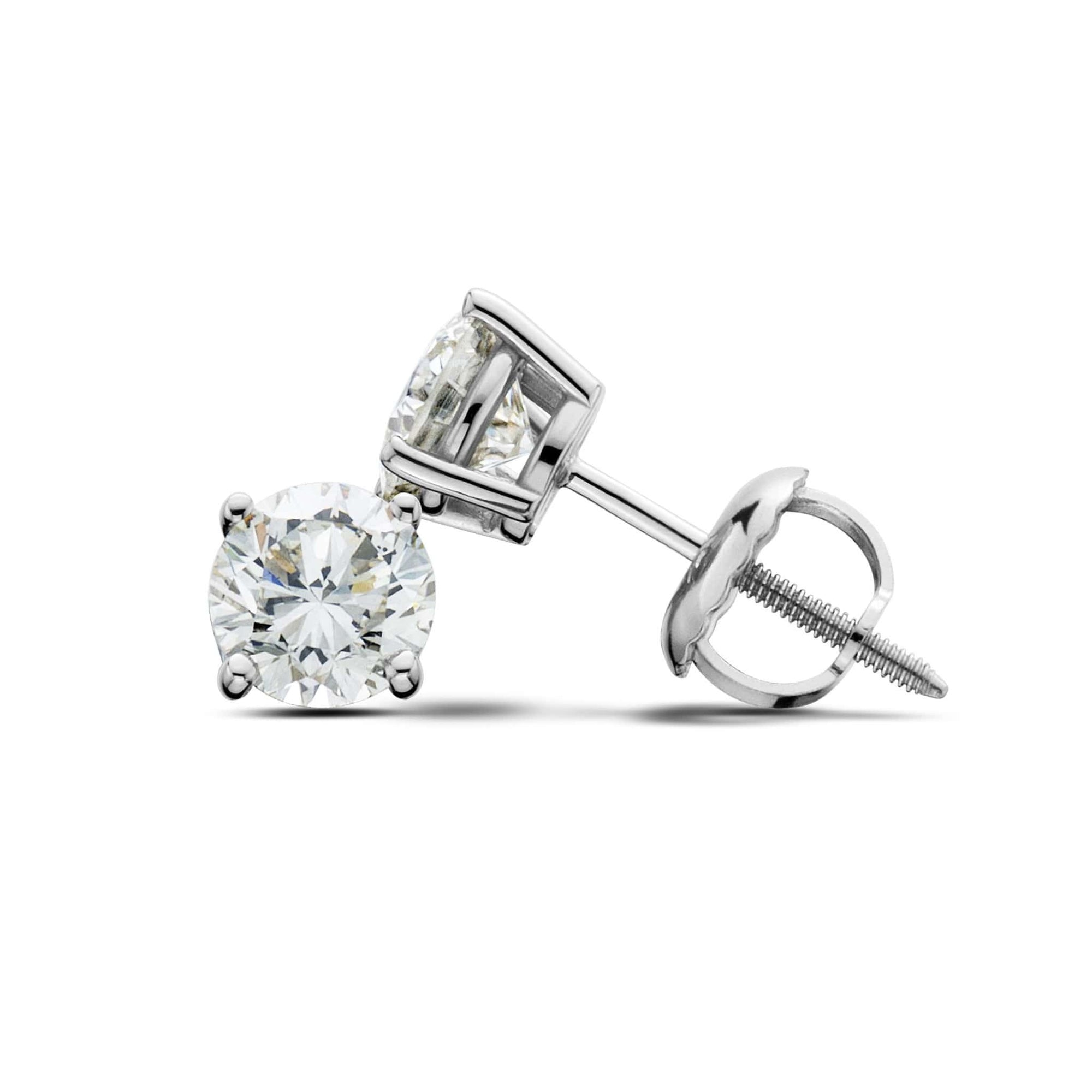 14K White Gold Diamond Stud Earrings (0.80 CT. TW.) at Arman's Jewellers