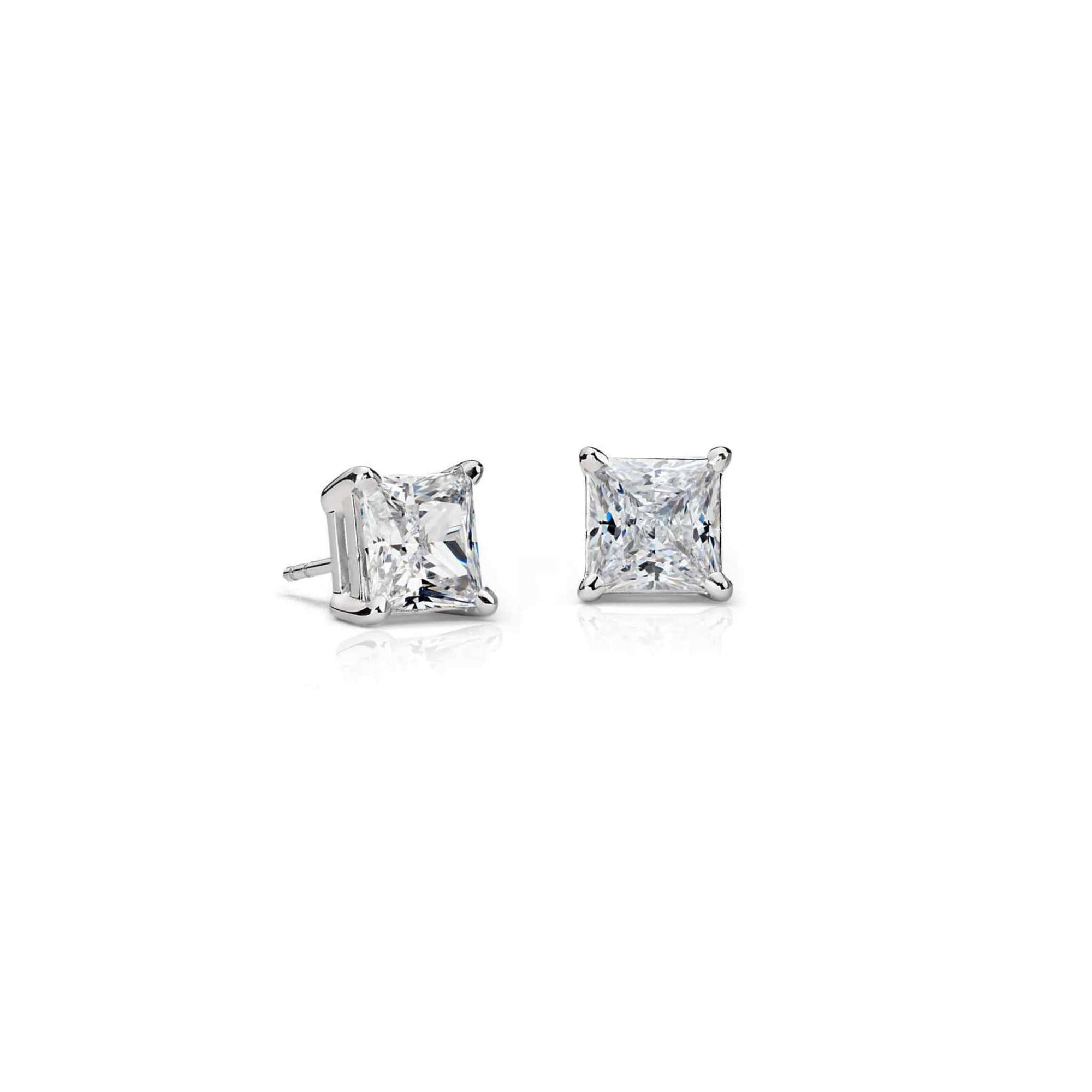 14K White Gold Princess-Cut Diamond Stud Earrings (0.50 CT. TW.) at Arman's Jewellers