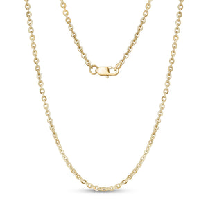 3mm Stainless Steel Flat Anchor Gold Chain Necklace at Arman's Jewellers