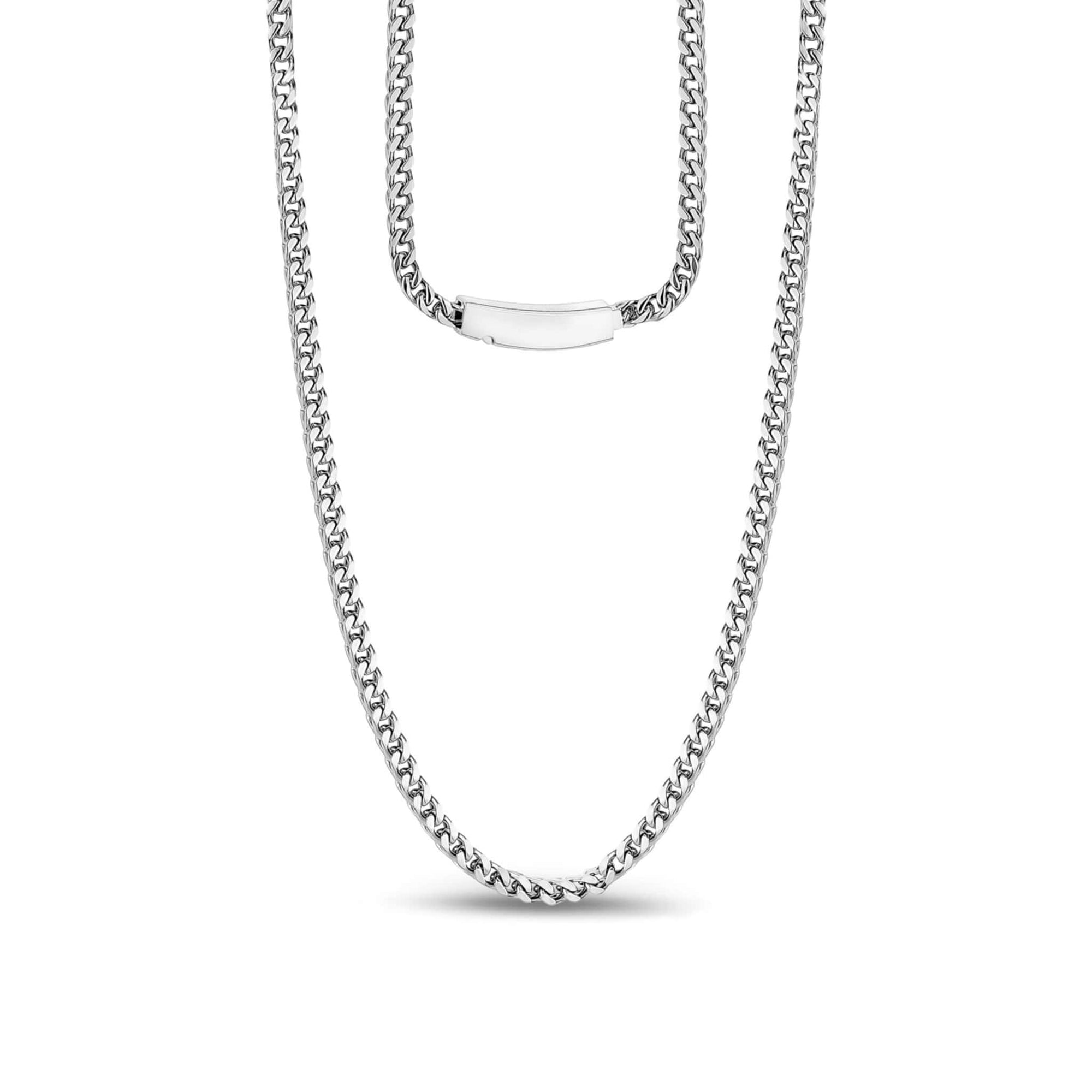 3mm Stainless Steel Franco Link Necklace at Arman's Jewellers