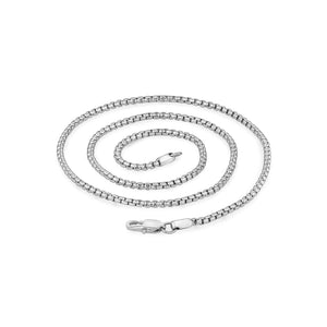 3mm Steel Round Box Link Chain Necklace at Arman's Jewellers