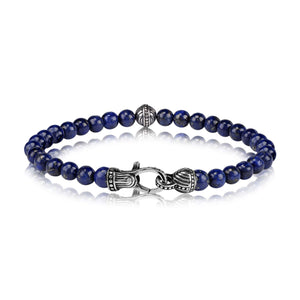 6mm Lapis Blue Bead Bracelet at Arman's Jewellers