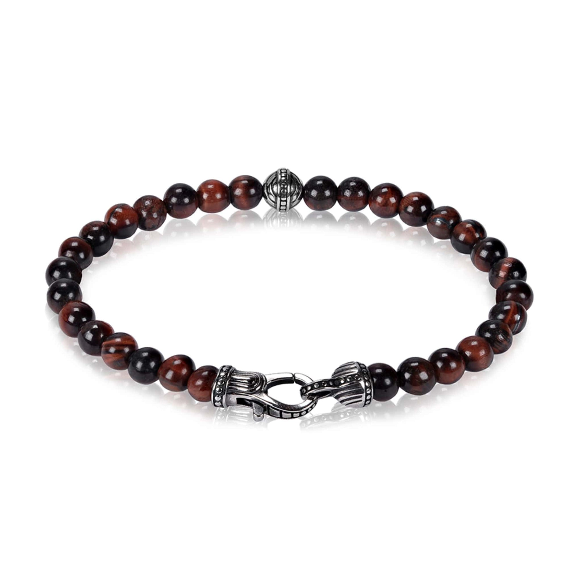 6mm Red Tiger Eye Bead Bracelet at Arman's Jewellers