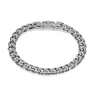 Men's 8mm Stainless Steel Cuban Link Bracelet at Arman's Jewellers