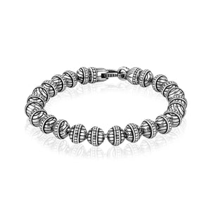 6mm Steel Designed Bead Bracelet at Arman's Jewellers Kitchener