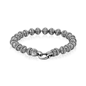 6mm Steel Designed Bead Bracelet at Arman's Jewellers Kitchener.jpg