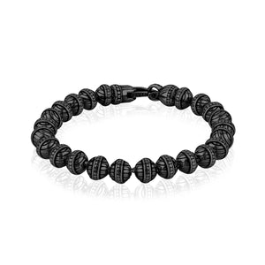 6mm Steel Designed Bead Bracelet