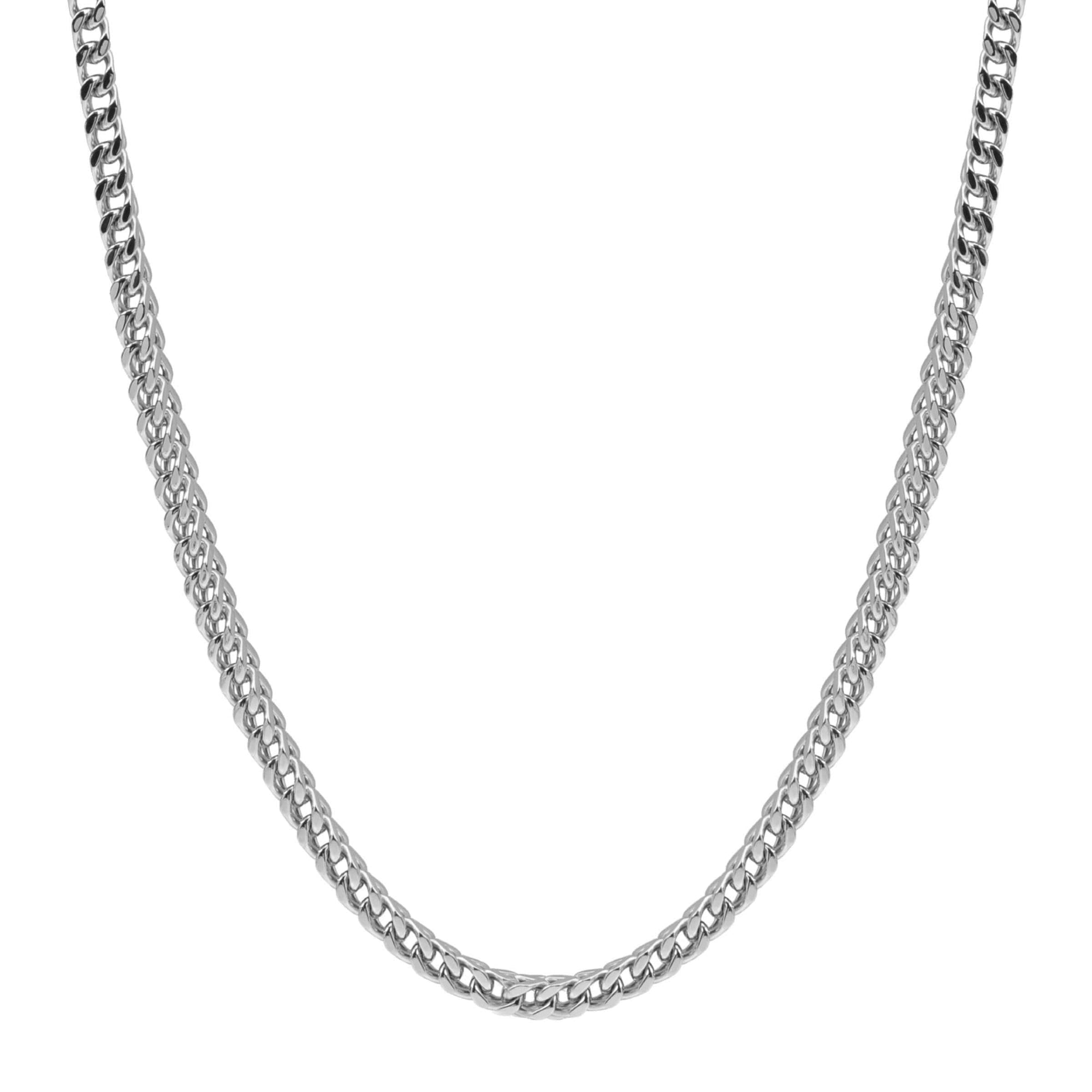 Men's 6mm Stainless Steel Franco Link Chain Necklace at Arman's Jewellers Kitchener