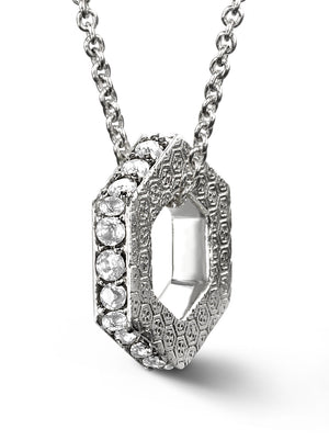 Bcouture April Keepsake-White Topaz With Chain at Arman's Jewellers Kitchener