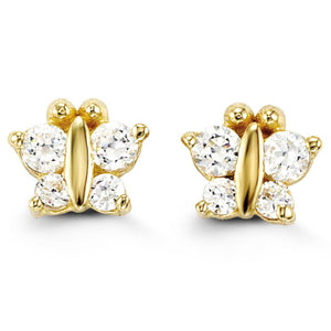 Bella Baby 14K Gold Cubic Zirconia Butterfly Stud Earrings at Arman's Jewellers Kitchener